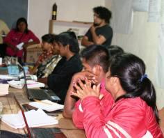 Colaboración con estudiantes de la Universidad Intercultural. Talleres Páscala del oro. Guerrero. 2013