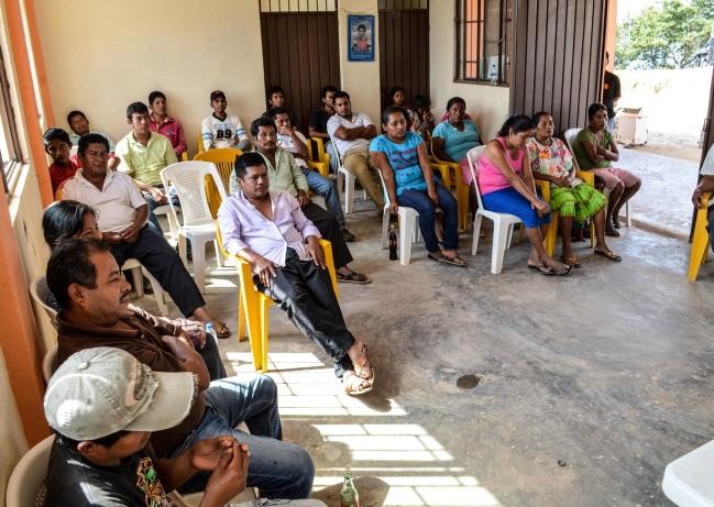 Taller de consenso y participación comunitaria para proyectos. Ejido de Buena Vista. Guerrero. 2014.