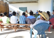 Proceso de consulta para realizar proyectos comunitarios. Ejido de Buena Vista, Guerrero. 2014
